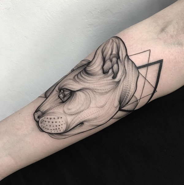Lines And Dots Tattoo: Foreboding Blackwork Tattoos Created Using Dots And Lines