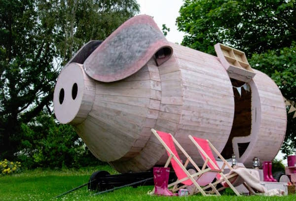 Airbnb Now Lets You Glamp Inside A Giant Wooden Pig At The Countryside