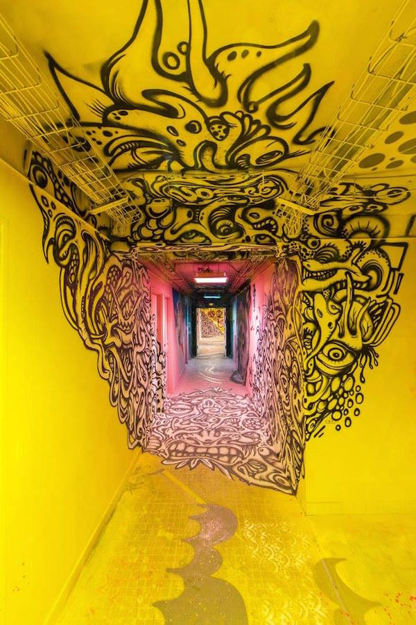 100 Graffiti Artists Unleashed Upon School To Give It Sickest Makeover Ever