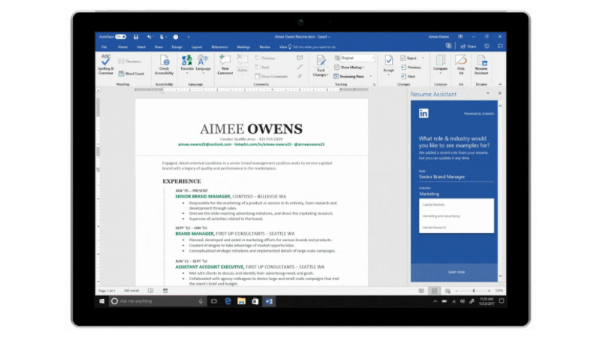 microsoft word uses ai to boost your r u00e9sum u00e9 with relevant