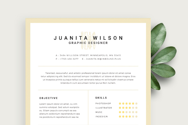 Free Eye-Catching Résumé Templates To Help You Stand Out From The Crowd - DesignTAXI.com