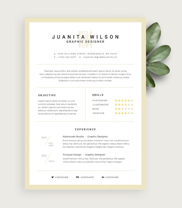 elegant by vladyslav tulinovskyi - Eye Catching Resume Templates