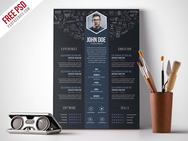 Creative Designer Via PSD Freebies
