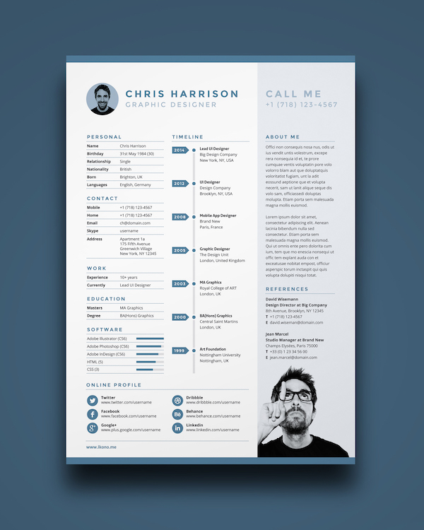 Free Eye-Catching Résumé Templates To Help You Stand Out From The Crowd