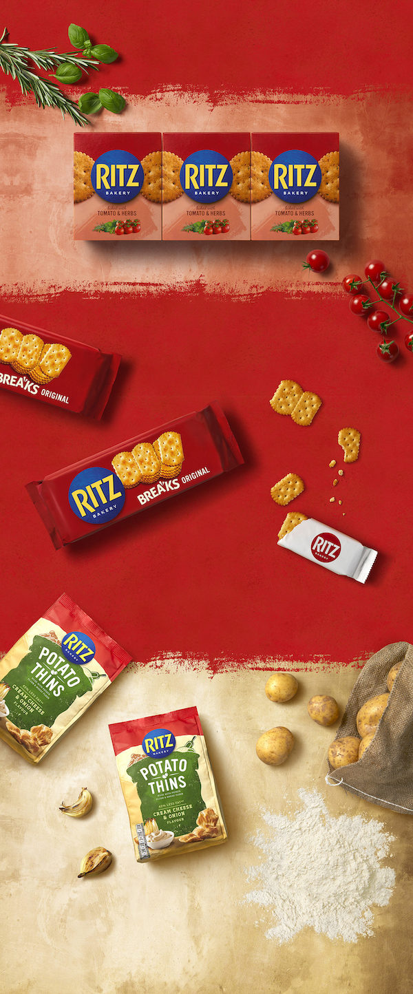 Ritz's Crisp New Branding Brings A Homelier Touch To Its Snack Crackers - DesignTAXI.com