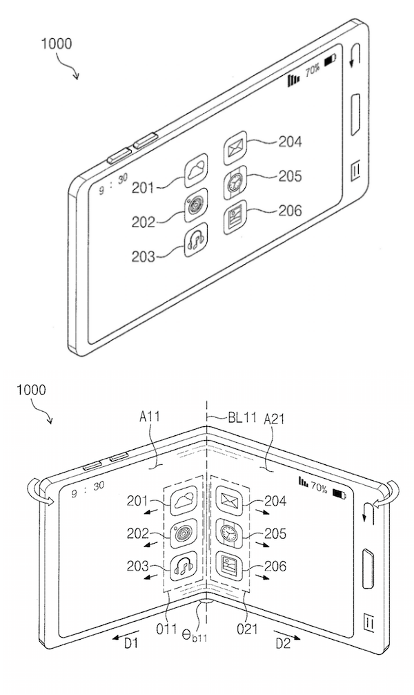Samsung Foldable Phone Patents May 2018 2