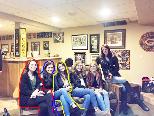 Internet Baffled By Photo Of Six Girls With Seemingly Only Five Pairs Of Legs