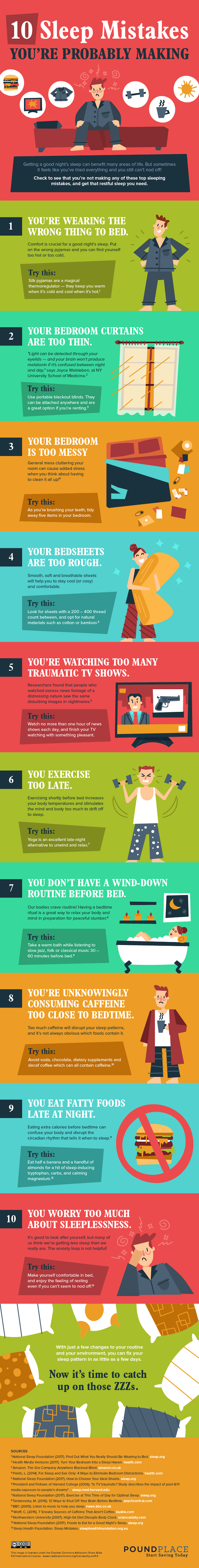 Infographic: 10 Sleep Mistakes You Might Be Making That Affect Your Slumber