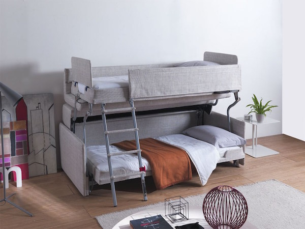 Space Saving Bunk Bed Entrancing Watch Innovative Spacesaving Sofa Transforms Into Comfy Bunk Design Ideas