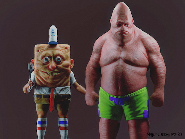 Spongebob patrick reimagined in real life will give for Heebie jeebies tattoo