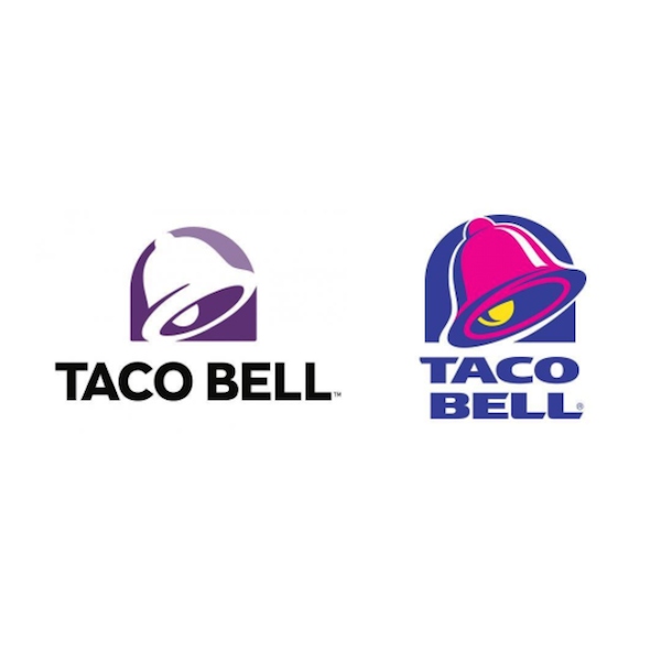 Taco Bell Logo taco bell revamps logo after 20 years for more customization