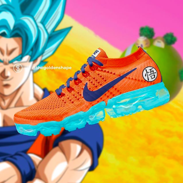 ef191478738 Dragon Ball Super x Nike Air VaporMax  Goku . Image by The Golden Shape and  featured with permission