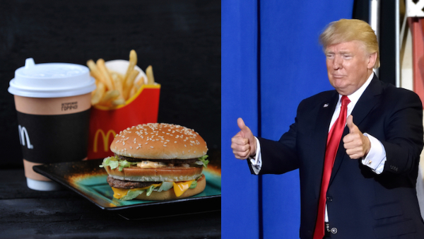 Trump's Fast Food Banquet Gets Fattened As A Humorous Photoshop Battle