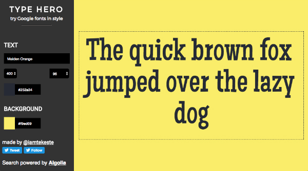 Try Google Fonts In Various Colors And Styles With This Convenient Type Tool