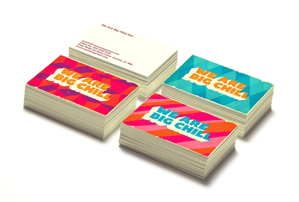 Eye catching business cards that make great use of typography to image via zip design colourmoves