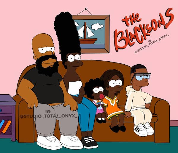 Artist Aptly Redraws Characters From Iconic Cartoons As Black People