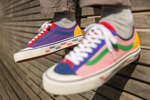 98108436f8c1 Vans  Adorably Colorful  Patchwork  Design Is For Anyone Who Loves ...