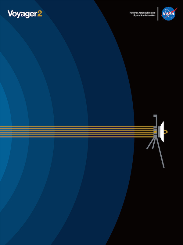 NASA Unveils Free New Graphic Poster To Celebrate 'Voyager 2' Going Interstellar
