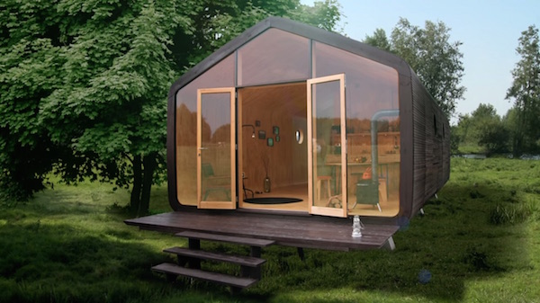 Brilliant tiny home is a sturdy modular abode made from for Case in legno senza fondamenta