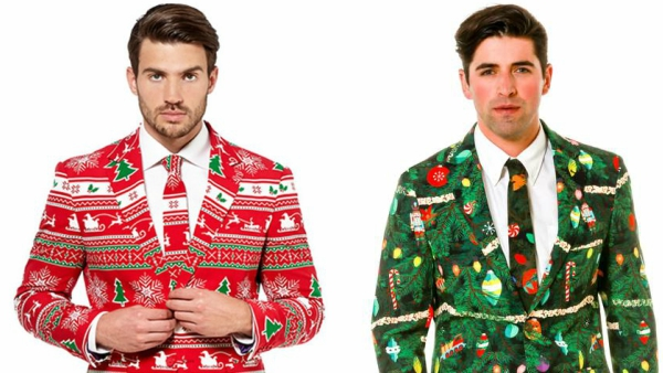 suit up for the holidays with these dapper ugly christmas sweater formalwear designtaxicom - Christmas Sweater Suit