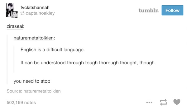 lol ridiculously funny things about the english language
