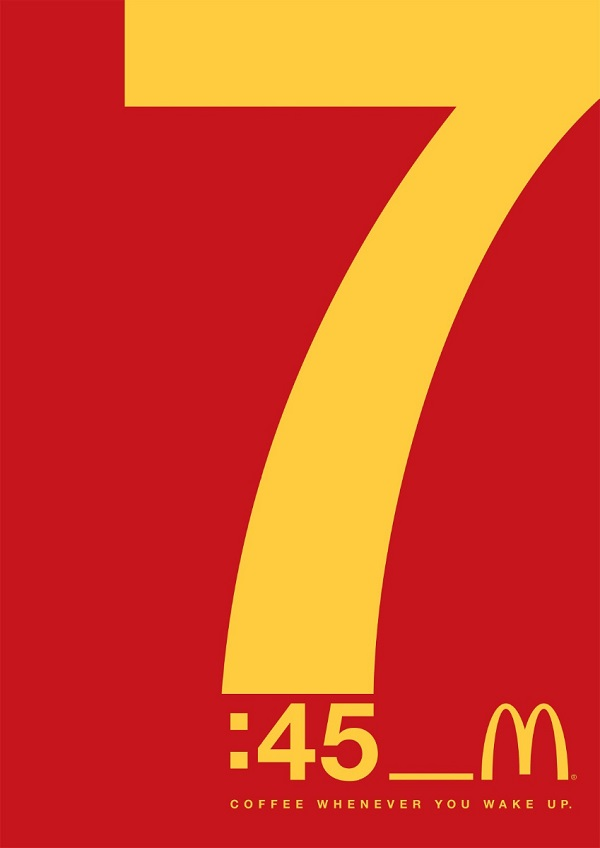 mcdonald�s uses eyecatching typographic ads to promote