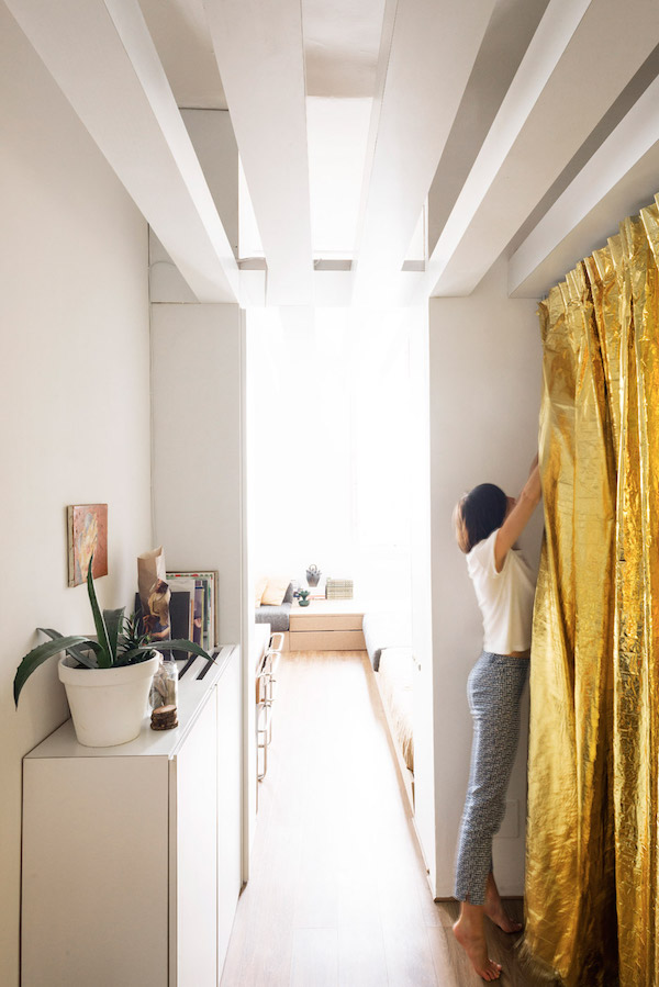An Architect's Brilliant Tiny Apartment That Transforms From Home To Studio