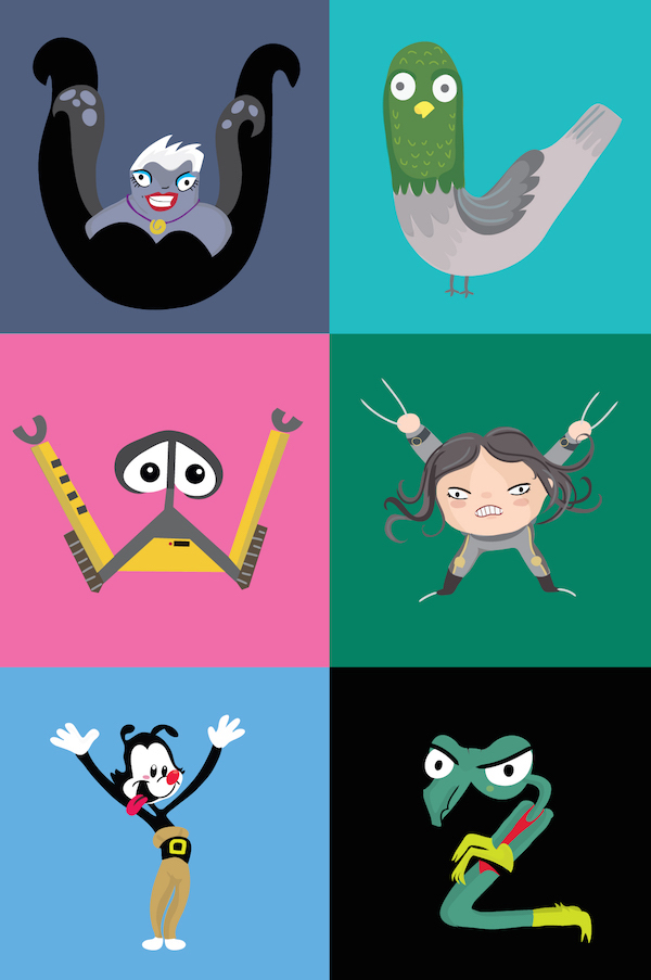 Disney Pixar Themed Alphabet With Characters Cleverly