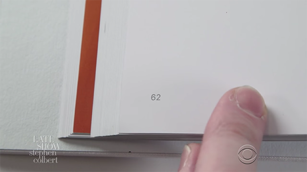 Stephen colbert pokes fun at apple s 300 book in a for 300 apple book
