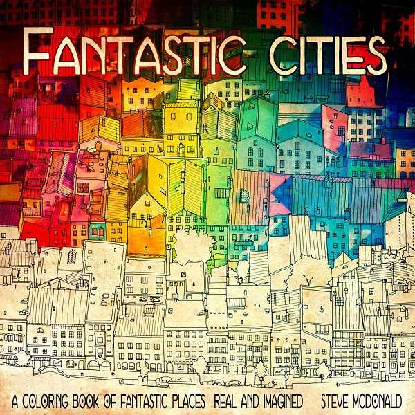 Coloring Book For Adults Features Intricate Aerial Views Of Cities