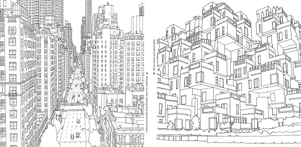 via curbed images via fantastic cities - Intricate Coloring Books