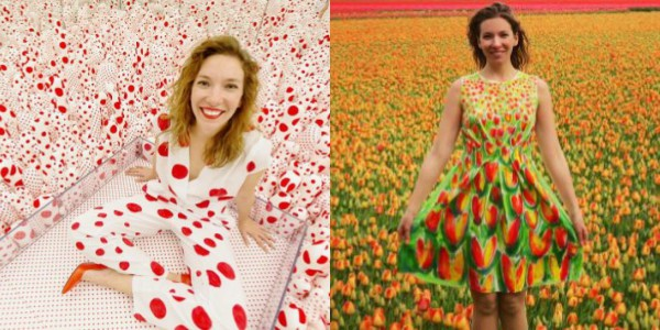 Instgrammer Matches Her Handmade Outfits Seamlessly With