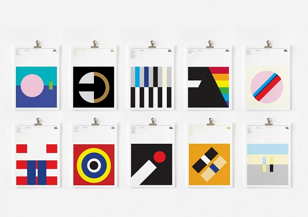 Famous album covers redesigned into striking colorful for Famous minimalist designers