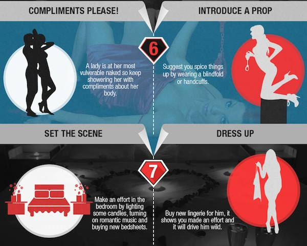 Infographic 10 creative ways to impress your partner in - Ways to spice things up in the bedroom ...