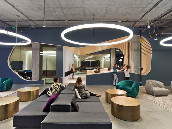 Dropbox Headquarters In San Francisco Was Redesigned By Rapt Studio, Taking  Visual Cues From Diverse Cities. It Also Features A Karaoke Bar And Library  ...