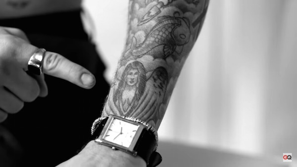Watch justin bieber shares the stories behind his tattoos for Justin bieber fake tattoo sleeve