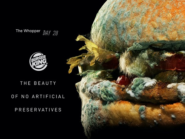 Burger King Proudly Shows Off Moldy Whopper In Nauseating Campaign - DesignTAXI.com