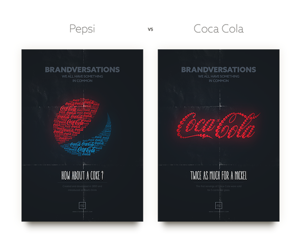 Logos Of Apple, Coca-Cola, Famous Brands Recreated With Their Rivals' Logos