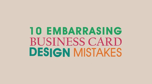 Character Design Mistakes : Watch embarrassing business card design mistakes