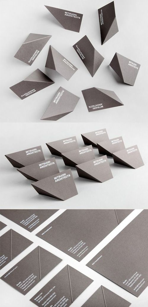 Striking Creative Business Cards For Architects Engineers Designers