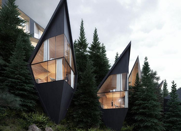 Dreamlike Prism Treehouses Nestled In A Forest Will Delight Any Nature Lover
