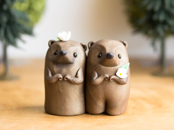 cute animal wedding cake toppers channel your spirit animal on your wedding day with these 13267