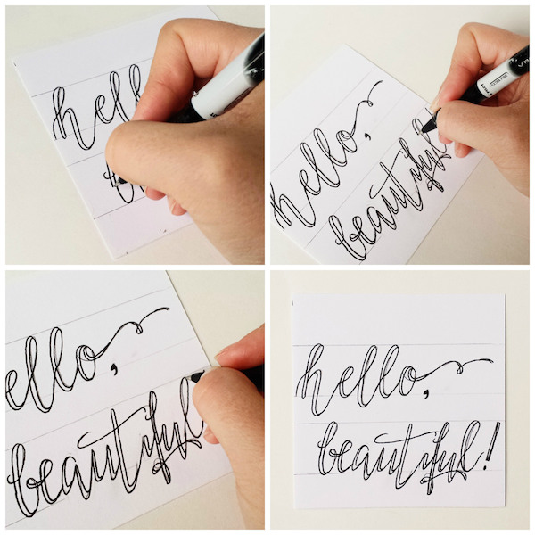 Fake calligraphy quotes