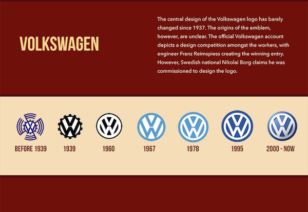 Liam Thinks Infographic The Fascinating Evolution Of Car Brand
