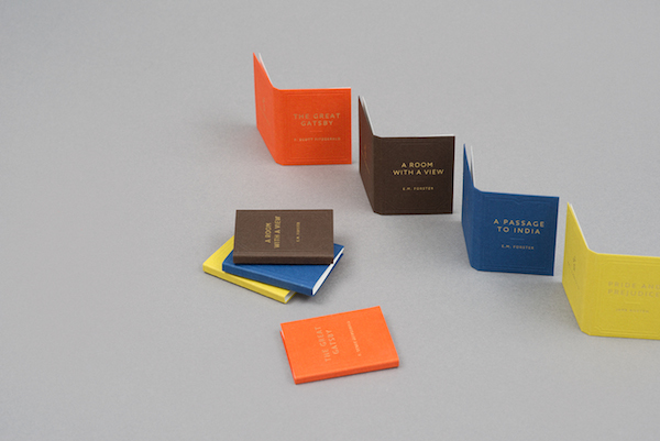 Delightful business cards designed to look like tiny popular advertisement colourmoves