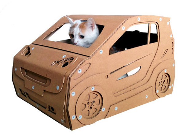 Cardboard Cat Houses Shaped Like The 'TARDIS', Other ...