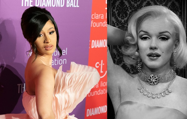 Cardi B Looks Like Modern-Day Marilyn Monroe With Blonde Locks & Ombré Tint