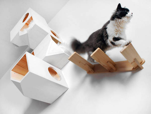 for cat owners chic geometric wooden cat tree perfect for modern homes chic cat furniture