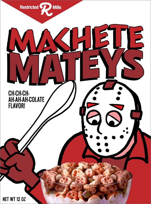 Cereal Killers Illustrated Horror Movie Characters On