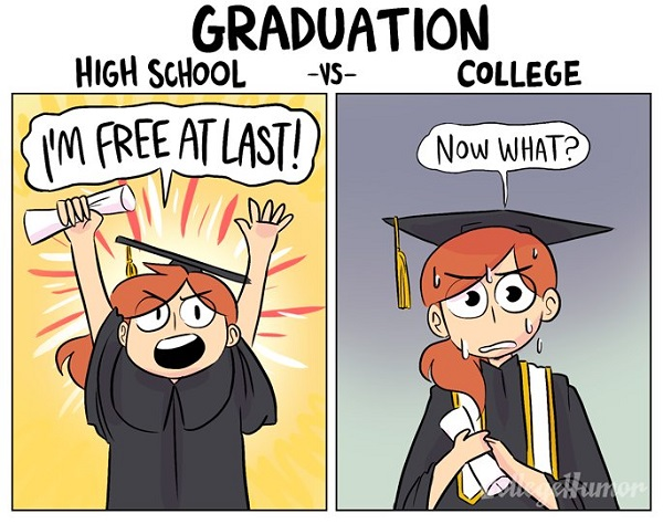 Animation differences between highschool and university
